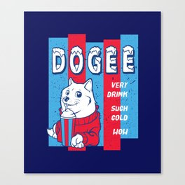 Dogee Such Cold  Canvas Print