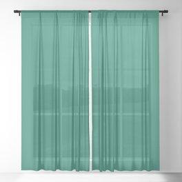 Ocean Green Sheer Curtain