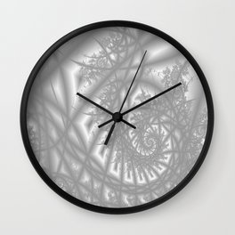 Venetian Lace In Gray Wall Clock