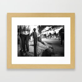 Alone in a Crowded Place Framed Art Print