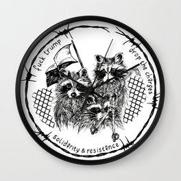 J20 solidarity raccoons Wall Clock