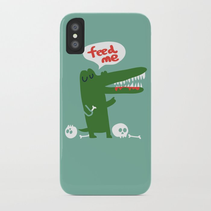 Hungry Hungry Alligator iPhone Case