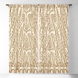 Sepia Macramé Arrowhead Chenille Lace Pattern Blackout Curtain