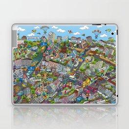 Illustrated map of Berlin-Prenzlauer Berg Laptop & iPad Skin