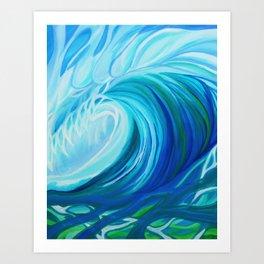 Turquoise Swell Art Print