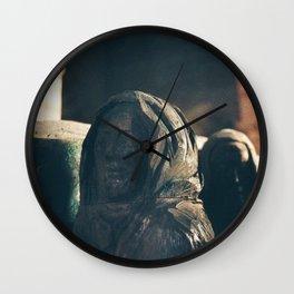 Pallbearer Statue, Lindisfarne Church Wall Clock
