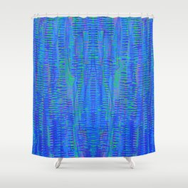 with green, 5 Shower Curtain
