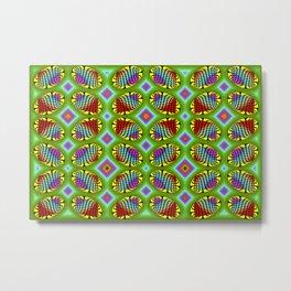 Patterned-beans-pattern 1 Metal Print