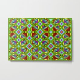 Patterned-beans-pattern 1 Metal Print