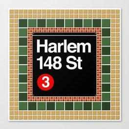 subway harlem sign Canvas Print