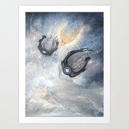 Starships Derelict Space Art Print