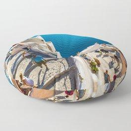 Oia,Santorini Floor Pillow