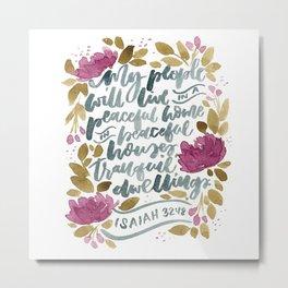 Isaiah :18 Metal Print