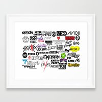 edm Framed Art Prints featuring Edm favourites by Antekswerve