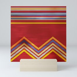 Stripes and Chevrons Ethic Pattern Mini Art Print