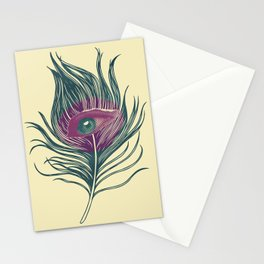 Feather in my eye Stationery Cards
