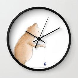 Bear with Yoyo Wall Clock