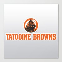 nfl Canvas Prints featuring Tattooine Browns - NFL by Steven Klock