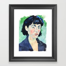 Profile in Acrylic Framed Art Print