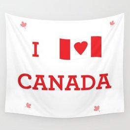 I heart Canada Wall Tapestry