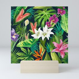 Tropical Lush Sanctuary, A Bohemian Paradise Mini Art Print