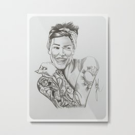 "Loving The ""Tattoo Life"" Metal Print"