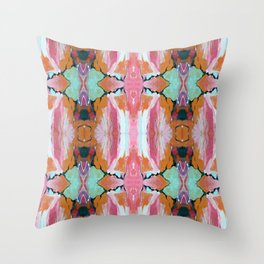 Earth Shattering Pink Blue Abstract Throw Pillow