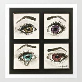 Eyes Show Emotions Art Print