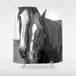 Sisters in B&W Shower Curtain