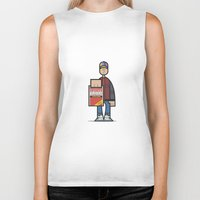 marty mcfly Biker Tanks featuring Marty by Sr.Pandita