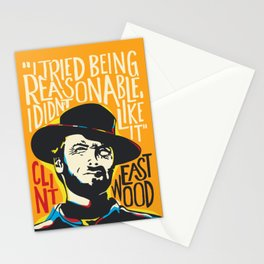 Clint Eastwood Pop Art Portrait Stationery Cards