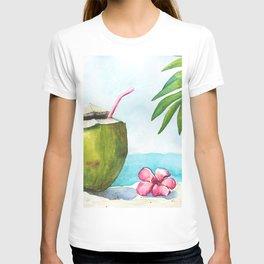 Coconut at the beach T-shirt
