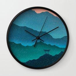 Meditating Samurai Wall Clock
