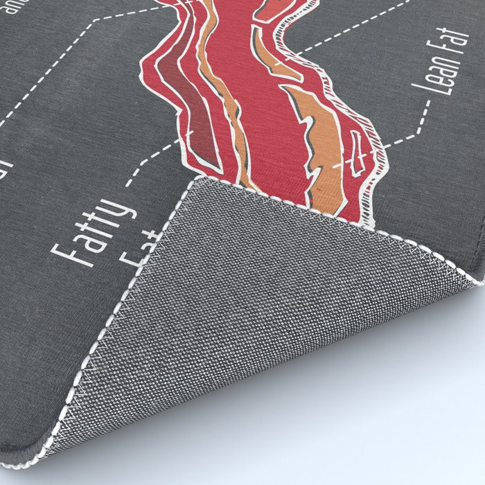 Bacon Strips - Anatomy of Perfection (Meat Diagram) Rug