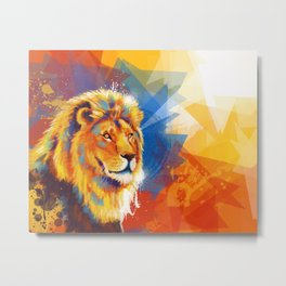 Majesty - Lion portrait Metal Print