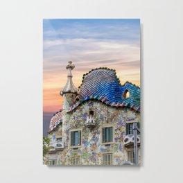 Gaudi Facade Metal Print