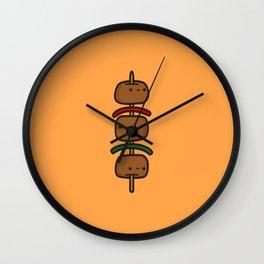 tasty kebab Wall Clock