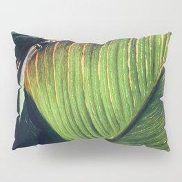 Fine Art Avant-Garde Palm Leaf With Red veins Pillow Sham