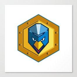 Cyber Punk Chicken Hexagon Icon Canvas Print