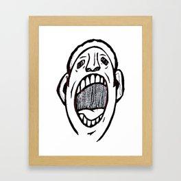 Shut It Framed Art Print