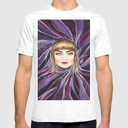 Watercolor Pop Surrealism Chic Artistic Female Portrait T-shirt