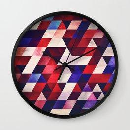 ryd whyte blww Wall Clock