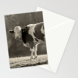 Cow in Field Stationery Cards