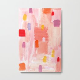 Put Sorrows In A Jar - abstract modern art minimal painting nursery Metal Print