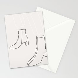 Lady in her boots Stationery Cards