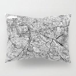 Berlin White Map Pillow Sham