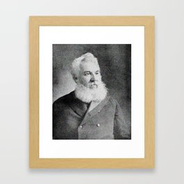 Alexander Graham Bell, the telephone inventor Framed Art Print