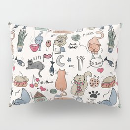 Cats Life Pillow Sham