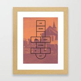 Life Begins and Ends Framed Art Print