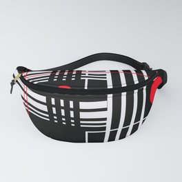 Geometry Flirt, Lines Circles Abstract Fanny Pack